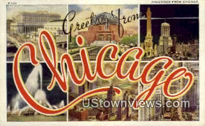 Greeting from Chicago - Illinois IL Postcard