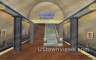 Chicago's Initial Subways  - Illinois IL Postcard