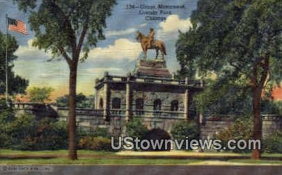 Grant Memorial, Lincoln Park - Chicago, Illinois IL Postcard