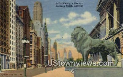 Michigan Avenue North - Chicago, Illinois IL Postcard