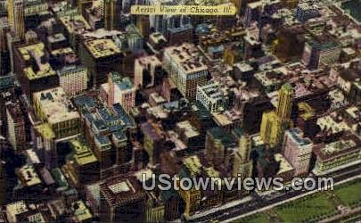Aerial View of Chicago  - Illinois IL Postcard