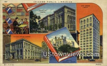 Chicago Public Libraries - Illinois IL Postcard