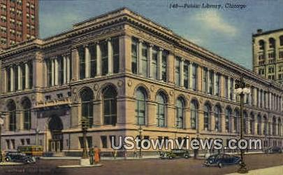 Public Library - Chicago, Illinois IL Postcard