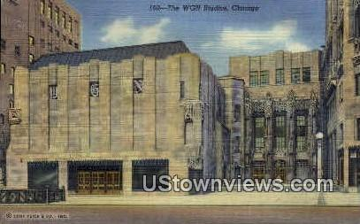 The WGN Studios - Chicago, Illinois IL Postcard