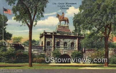 Grant Monument - Chicago, Illinois IL Postcard