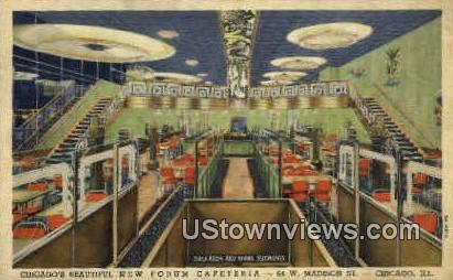 New Forum Cafeteria - Chicago, Illinois IL Postcard