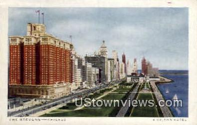 The Stevens Hotel - Chicago, Illinois IL Postcard