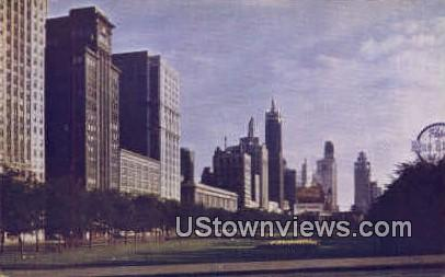 Michigan Avenue - Chicago, Illinois IL Postcard