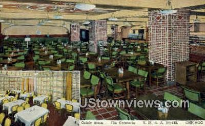 Oriole Room, Y.M.C.A. Hotel - Chicago, Illinois IL Postcard