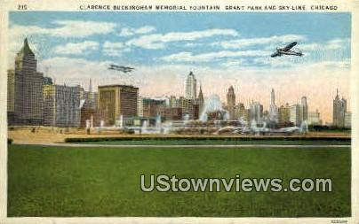 Clearance Buckingham Fountian - Chicago, Illinois IL Postcard