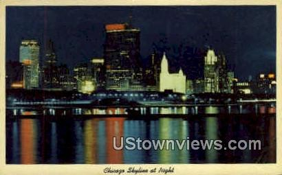 Chicago Skyline - Illinois IL Postcard