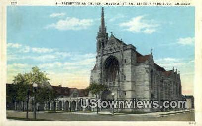Presbyterian Church - Chicago, Illinois IL Postcard