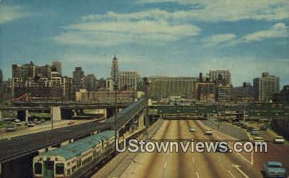 Congress Street Expressway - Chicago, Illinois IL Postcard