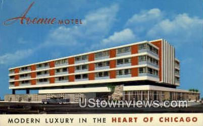 Avenue Motel - Chicago, Illinois IL Postcard