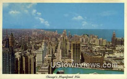 Chicago's Magnificent Mile - Illinois IL Postcard