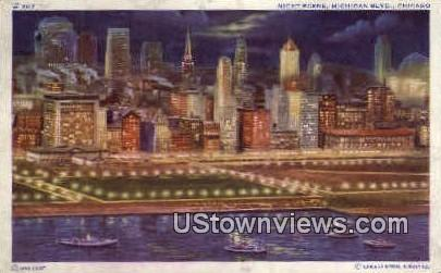 Michigan Blvd - Chicago, Illinois IL Postcard
