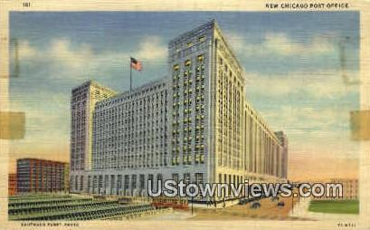 New Chicago Post Office - Illinois IL Postcard