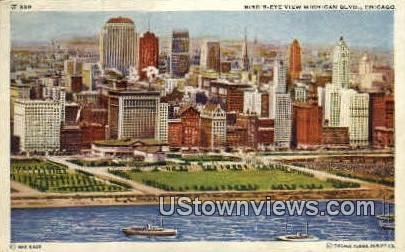Bird's-Eye view of Cairo - Chicago, Illinois IL Postcard