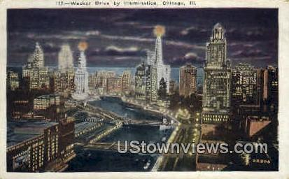 Wacker Drive - Chicago, Illinois IL Postcard