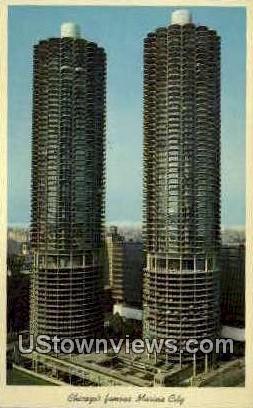 Marina City - Chicago, Illinois IL Postcard