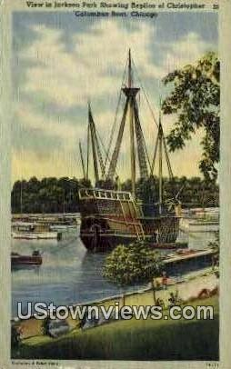 Columbus Boat - Chicago, Illinois IL Postcard
