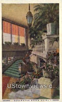 Edgewater Beach Hotel - Chicago, Illinois IL Postcard