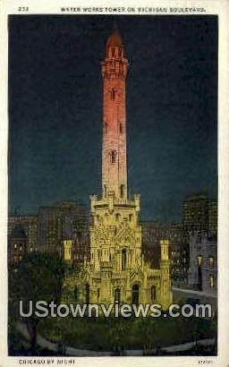 Water Works Tower - Chicago, Illinois IL Postcard