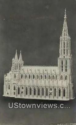The craving of Ulm Cathedral - Chicago, Illinois IL Postcard