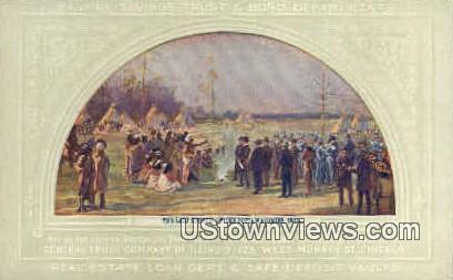 Last Council of the Potta Watomies - Chicago, Illinois IL Postcard