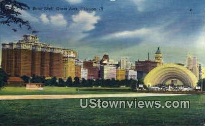 Band Shell  - Chicago, Illinois IL Postcard
