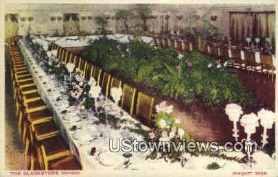 Banquet Room, The Blackstone - Chicago, Illinois IL Postcard