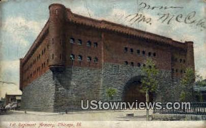 1st Regiment Armory - Chicago, Illinois IL Postcard
