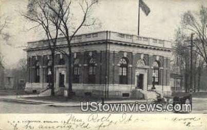 USA Post Office - Sterling, Illinois IL Postcard