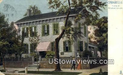 Home of Abraham Lincoln - Springfield, Illinois IL Postcard