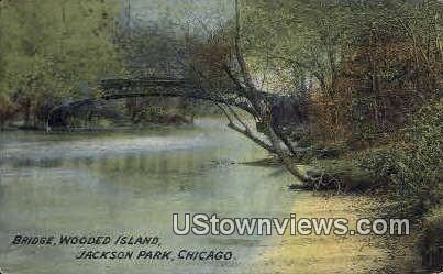 Bridge, Wooded Island - Chicago, Illinois IL Postcard
