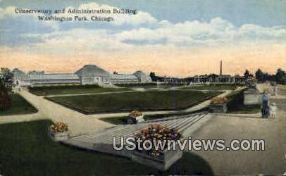 Conservatory & Admin Bldg - Chicago, Illinois IL Postcard