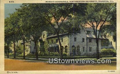 Women's Quadrangle, Northwestern U - Evanston, Illinois IL Postcard