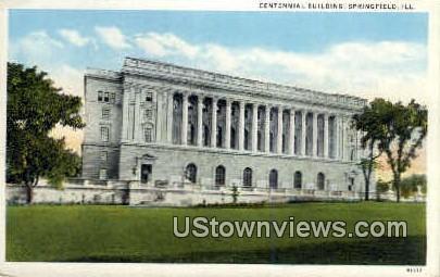 Centennial Bldg - Springfield, Illinois IL Postcard