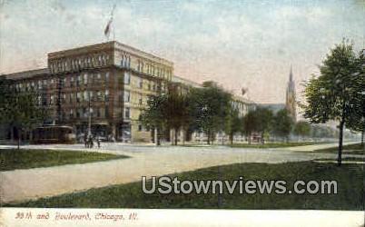 55th & Blvd - Chicago, Illinois IL Postcard