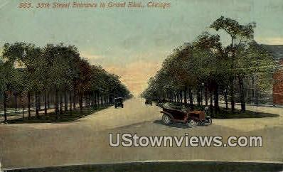 35th Street, Grand Blvd - Chicago, Illinois IL Postcard
