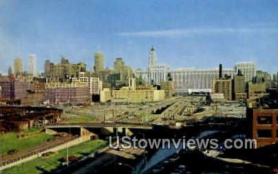 Congress Street Expressway - Chicago, Illinois IL Postcard