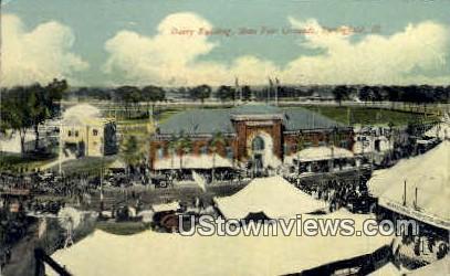 Dairy Bldg - Springfield, Illinois IL Postcard