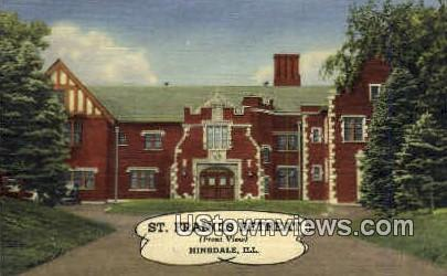 St. Francis Retreat - Hinsdale, Illinois IL Postcard