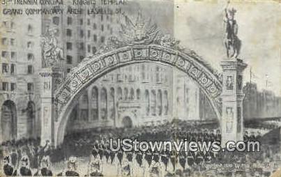 Knights Temple - Chicago, Illinois IL Postcard