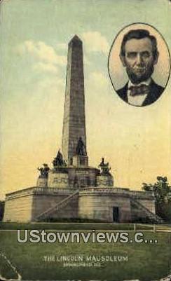 Lincoln Mausoleum - Springfield, Illinois IL Postcard