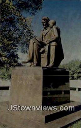 Lincoln & Tad - Springfield, Illinois IL Postcard