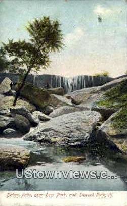 Bailey Falls - Deer Park, Illinois IL Postcard