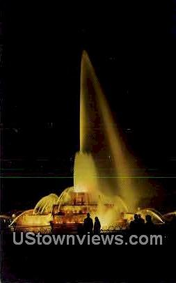 Buckingham Memorial Fountain - Chicago, Illinois IL Postcard