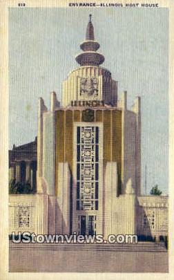 Illinois Host House - Chicago Postcard