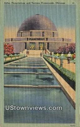 Adler Planetarium & Terrazo Promenade - Chicago, Illinois IL Postcard